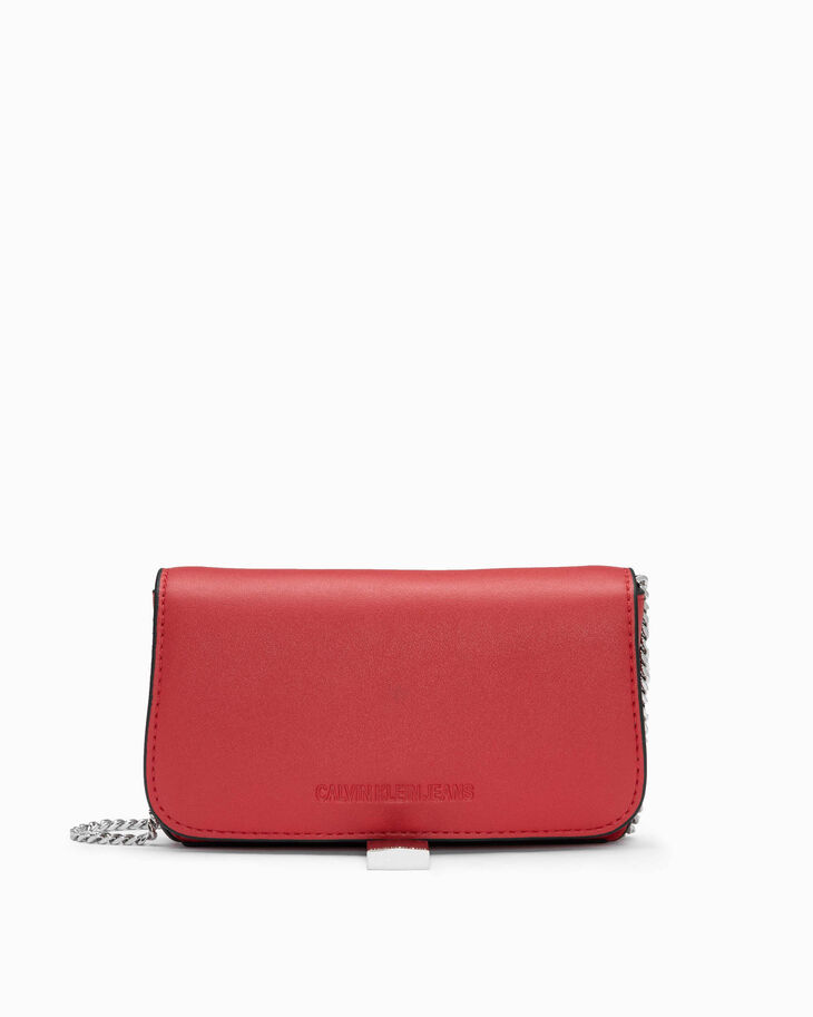 CALVIN KLEIN SCULPTED LOCK PHONE CROSSBODY BAG