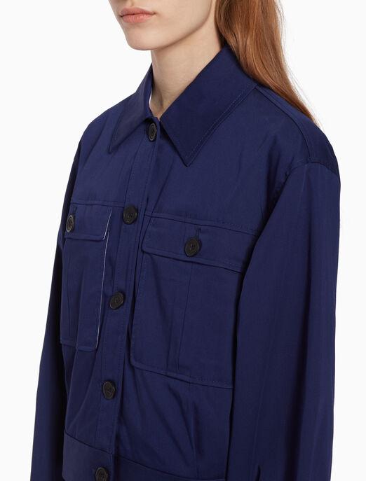 CALVIN KLEIN Twill trucker jacket