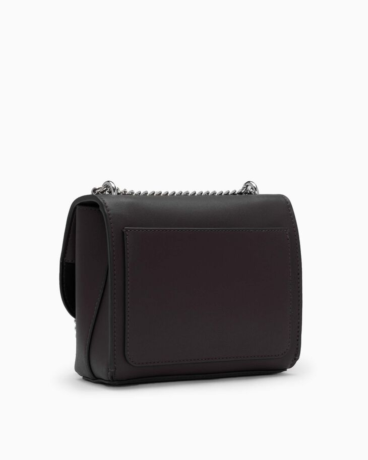 CALVIN KLEIN SCULPTED LOCK SQUARE CROSSBODY BAG