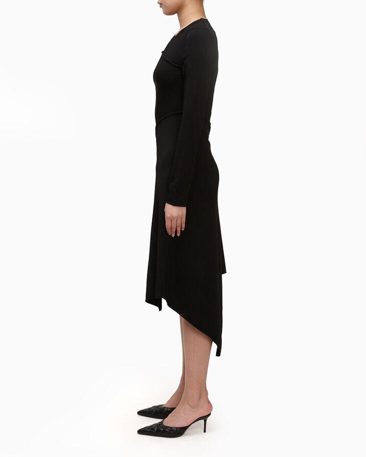 CALVIN KLEIN RIBBED ASYMMETRIC DRESS