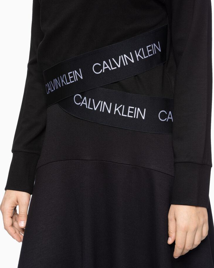 CALVIN KLEIN ACTIVE ICON WRAP-OVER HEM SWEATSHIRT