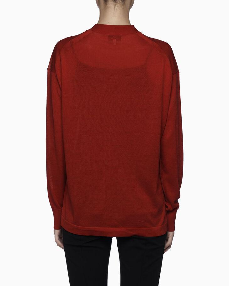 CALVIN KLEIN ORGANIC COTTON 心形刺繡開襟衫