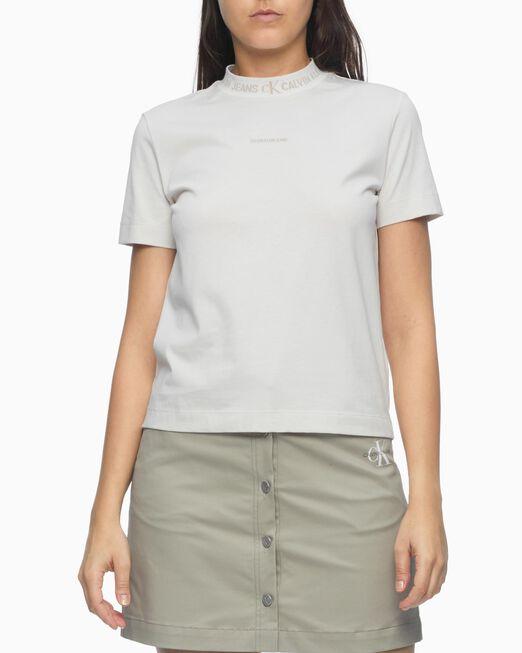 CALVIN KLEIN 여성 로고 인타샤 티셔츠
