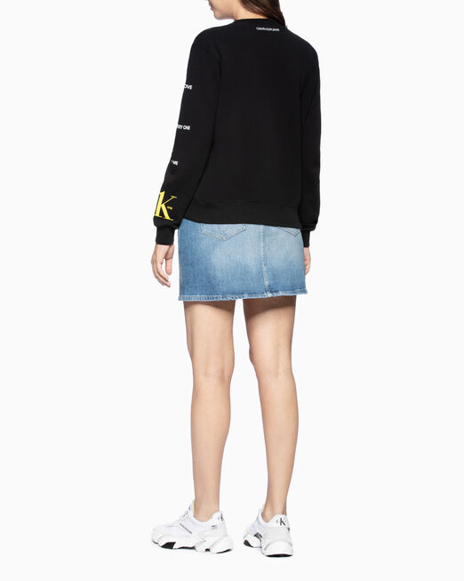 CALVIN KLEIN 여성 빅 로고 릴렉스핏 스웨트 셔츠