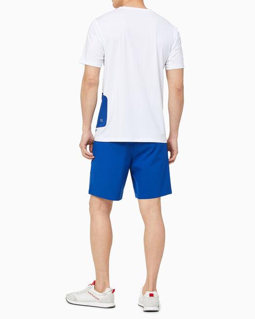 CALVIN KLEIN 남성 리플렉션 컬러블록 트레이닝 티셔츠