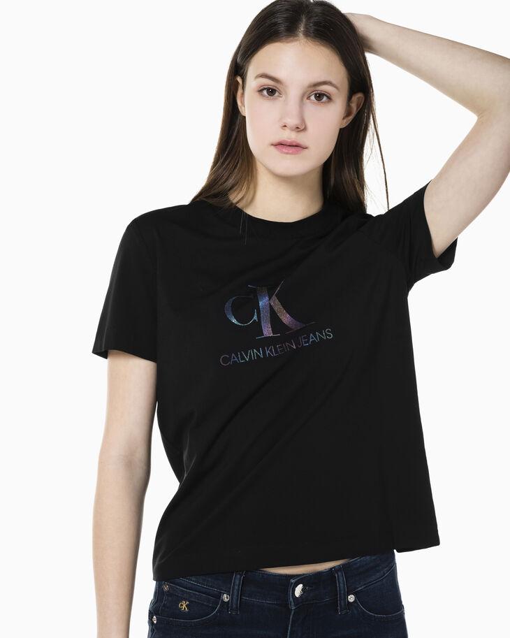 CALVIN KLEIN REFLECTION IRIDESCENT 印花 T 恤