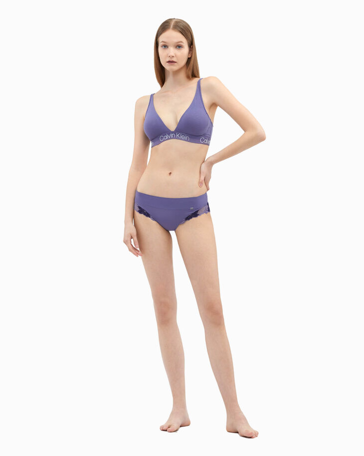 CALVIN KLEIN STRUCTURE COTTON LIGHTLY LINED TRIANGLE BRA