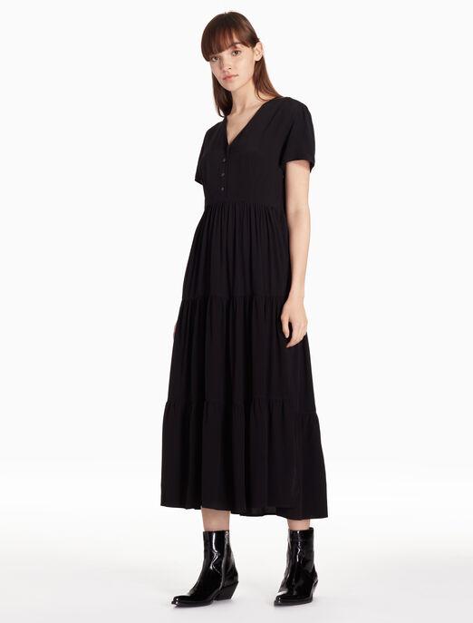 CALVIN KLEIN 비스코스 맥시 드레스