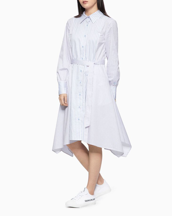 CALVIN KLEIN ASYMMETRIC 襯衫連身裙