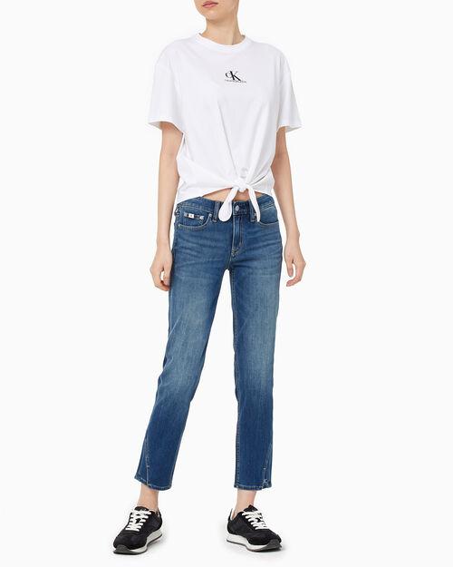 CALVIN KLEIN 여성 노트 티셔츠