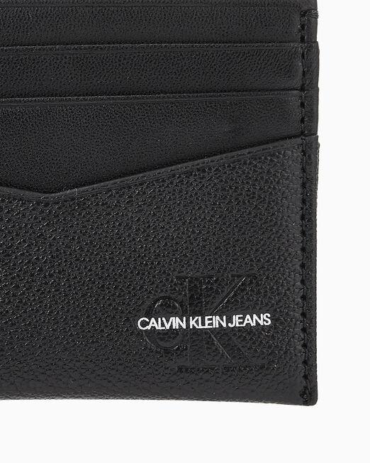 CALVIN KLEIN 남성 마이크로 페블 카드홀더