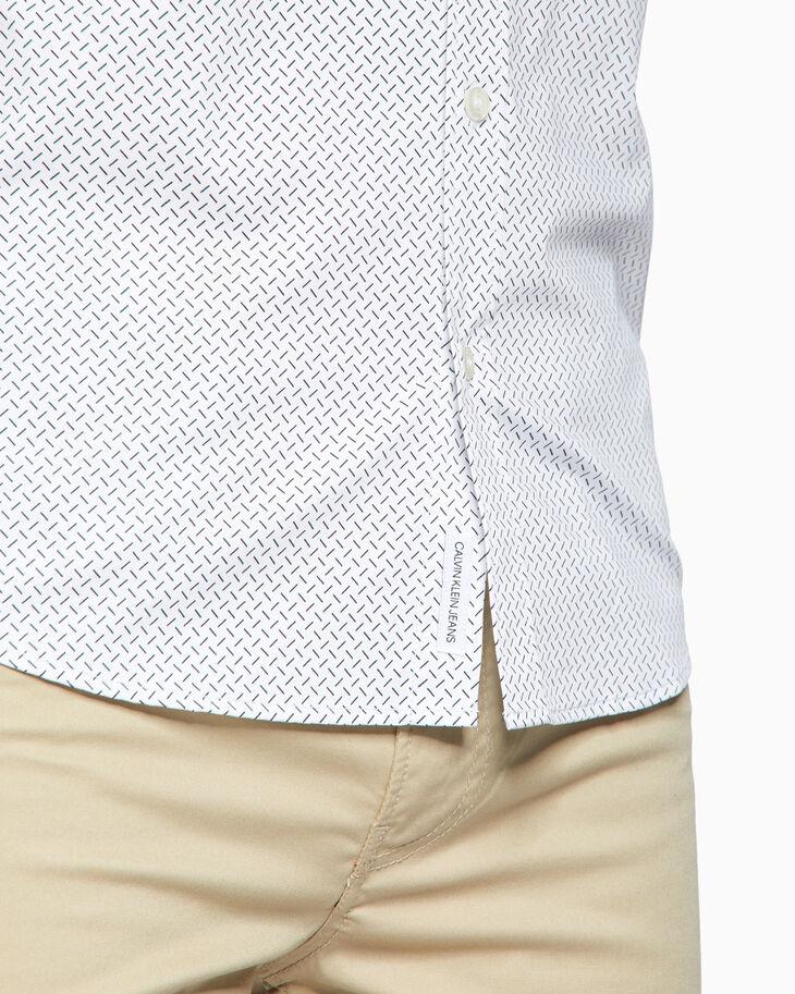 CALVIN KLEIN POPLIN MICRO PRINT シャツ
