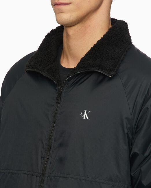 CALVIN KLEIN 남성 리버시블 쉐르파 재킷