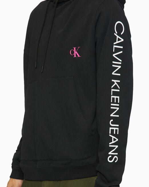 CALVIN KLEIN 남성 모토 포토프린트 후디 스웨트셔츠