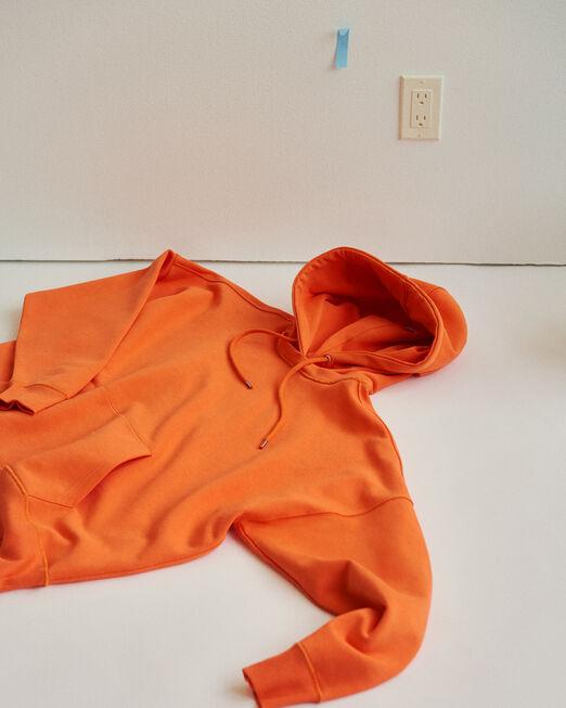 CALVIN KLEIN 남녀공용 프로젝트 오렌지 오가닉 코튼 포켓 후디(오렌지)
