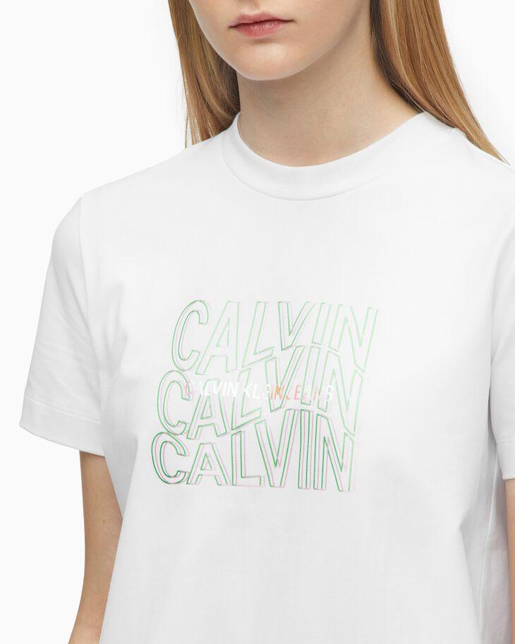 CALVIN KLEIN REFLECTION LOGO MODERN STRAIGHT TEE