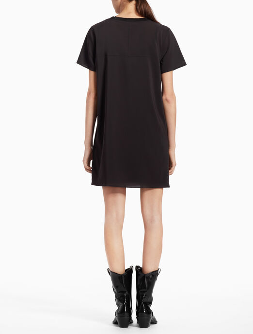 CALVIN KLEIN WOVEN SHEER T-SHIRT DRESS