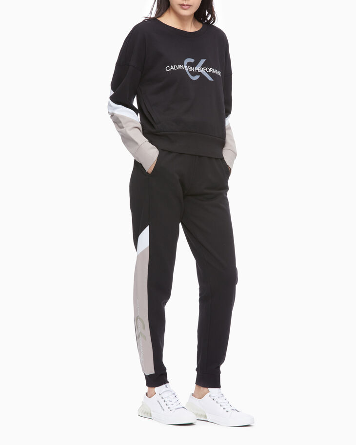 CALVIN KLEIN PERFORMANCE ICON KNIT SWEATPANTS