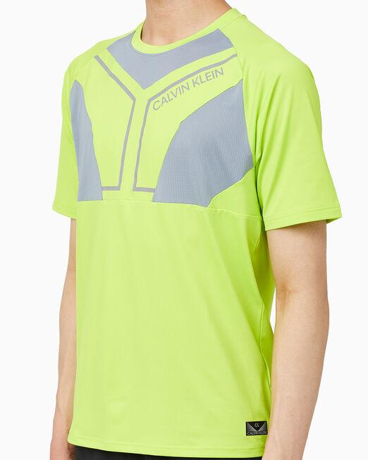 CALVIN KLEIN 남성 바이오닉 바디스 머테리얼믹스 워크아웃 티셔츠