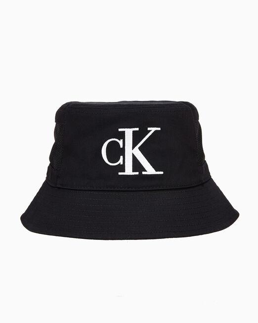 CALVIN KLEIN 남녀공용 CKJ 모노그램 메쉬 버킷햇