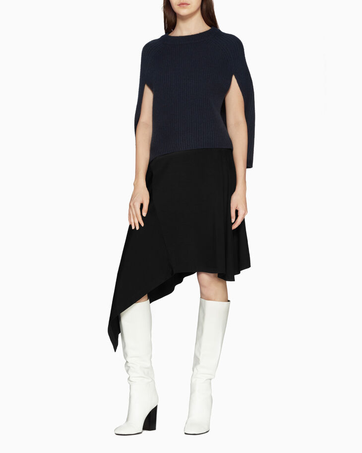 CALVIN KLEIN CHUNKY WOOL CASHMERE CAPE