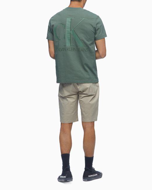 CALVIN KLEIN 남성 릴렉스핏 CK 플로킹 로고 반팔 티셔츠
