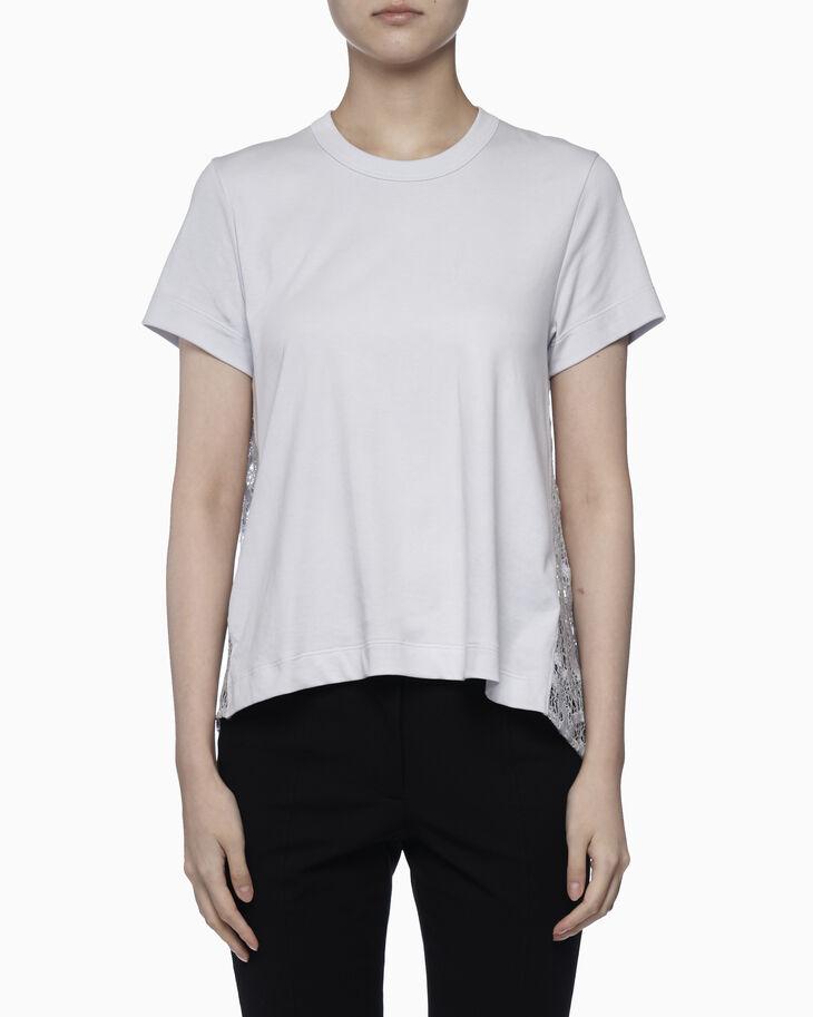 CALVIN KLEIN LIGHTWEIGHT ORGANIC 刺繡蕾絲棉質上衣
