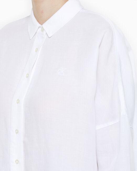 CALVIN KLEIN 여성 썸머 린넨 셔츠