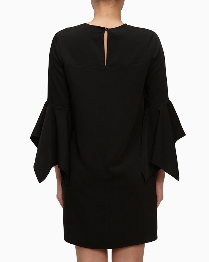 CALVIN KLEIN V NECK CREPE DRESS