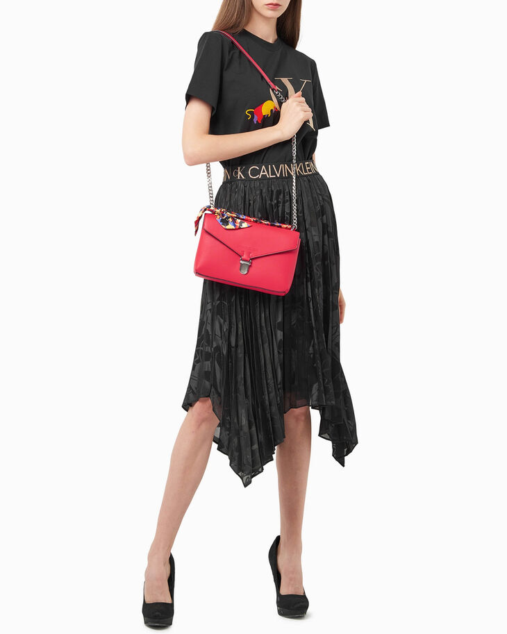 CALVIN KLEIN CHINESE NEW YEAR EAST WEST BAG WITH SCARF