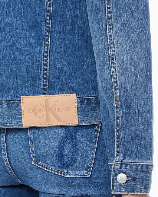 CALVIN KLEIN 여성 파운데이션 데님 트러커 재킷