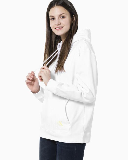 CALVIN KLEIN 여성 센서드 백 모노그램 로고 보이핏 후디