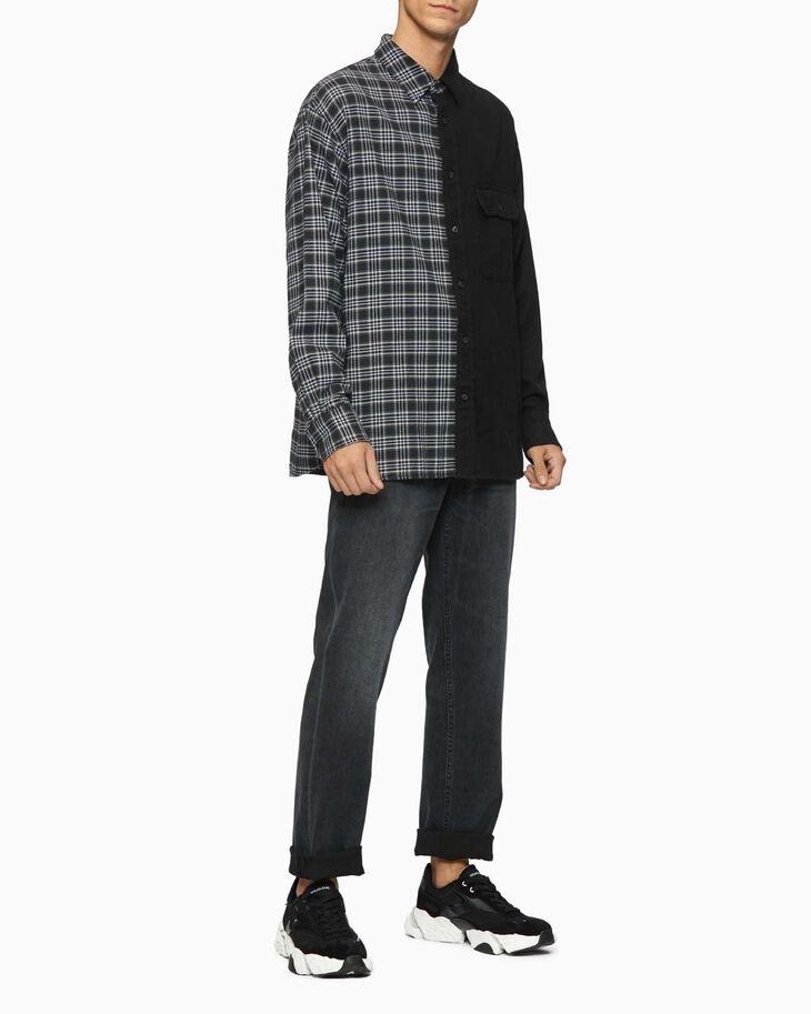 CALVIN KLEIN MIXED CHECK OVERSIZED SHIRT