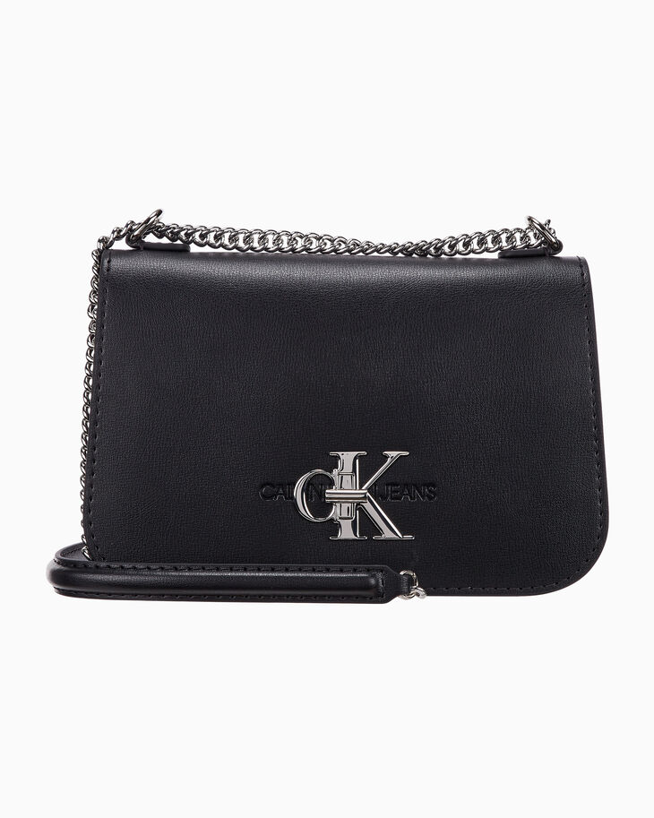 CALVIN KLEIN CKJ MONO HARDWARE CONVERTIBLE FULL FLAP BAG