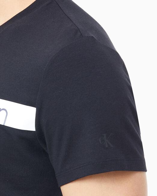 CALVIN KLEIN 남성 슬림핏 로고 반팔 티셔츠