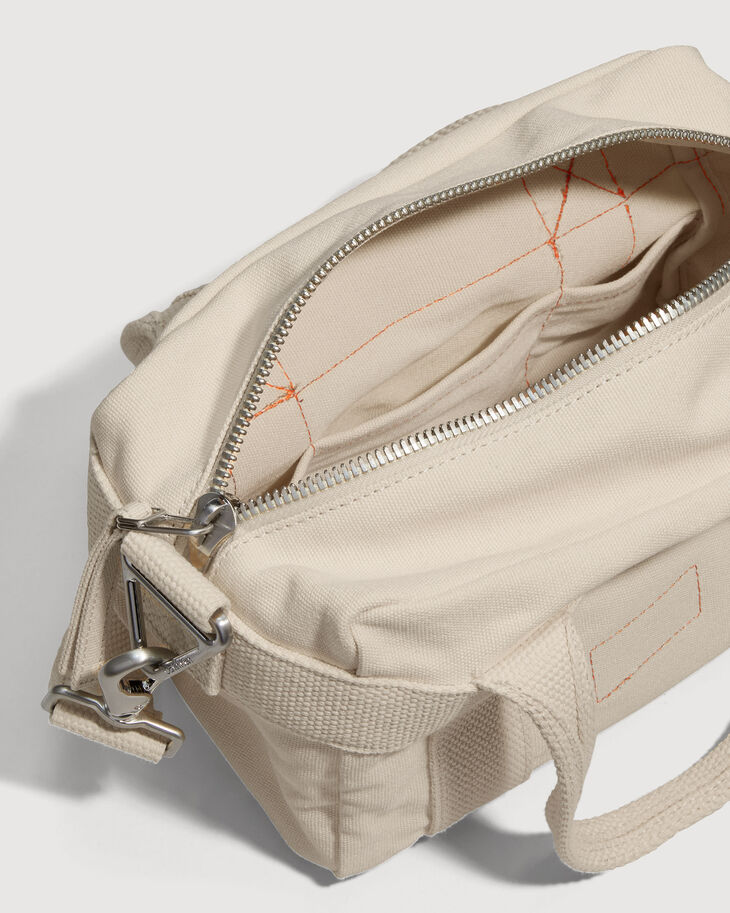 CALVIN KLEIN ORGANIC COTTON CANVAS ジップミニサッチェル
