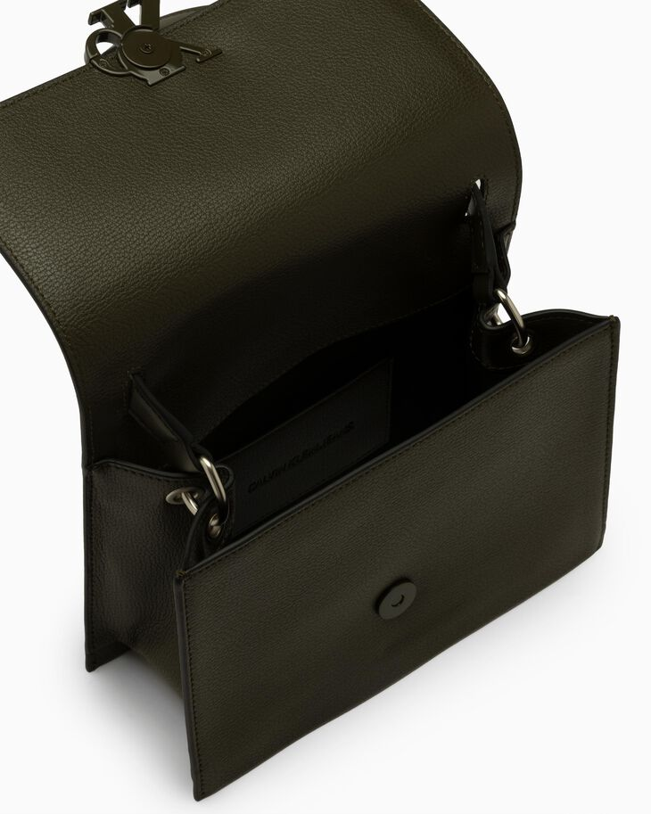CALVIN KLEIN MINIMAL MONOGRAM SMALL FLAP CROSSBODY BAG
