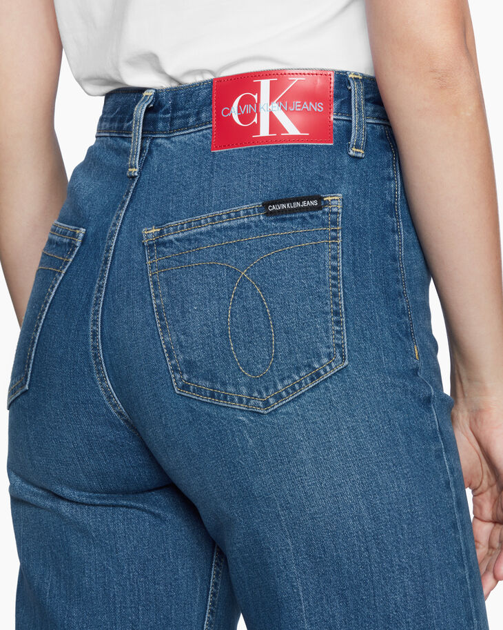 CALVIN KLEIN ARCHIVE ICONS WIDE LEG ANKLE JEANS