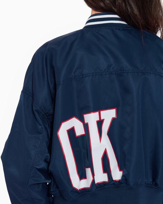 CALVIN KLEIN WOVEN CROPPED 보머 재킷