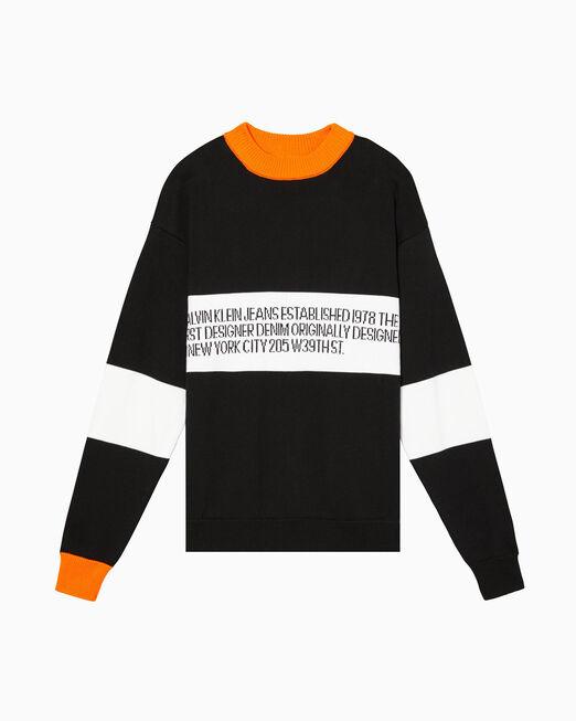 CALVIN KLEIN EST. 1978 LOGO 크루넥 스웨터