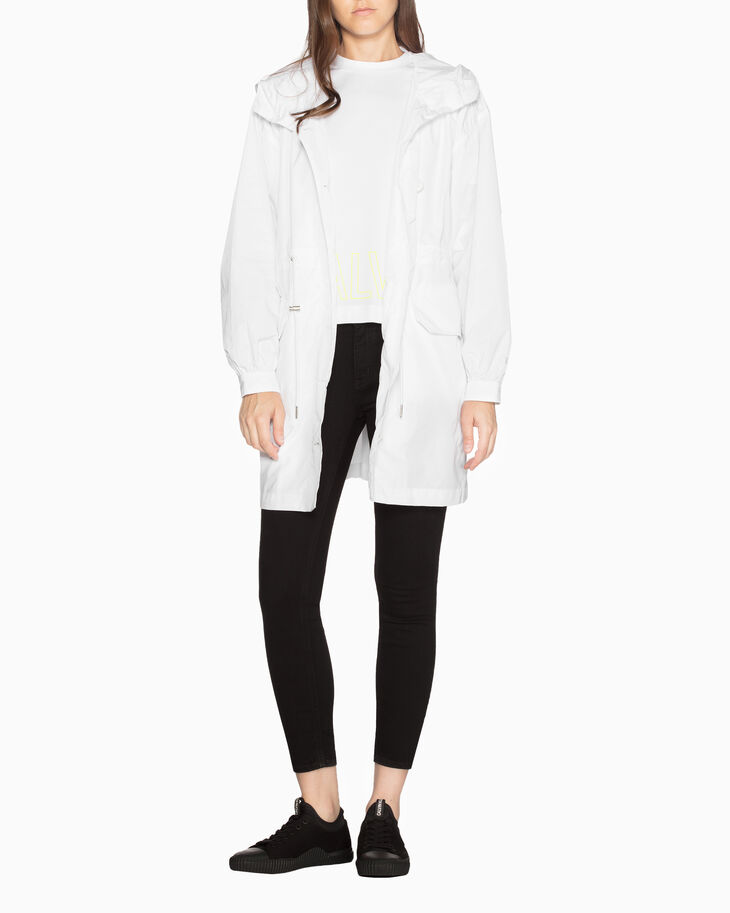CALVIN KLEIN HOODED MID-LENGTH PARKA JACKET