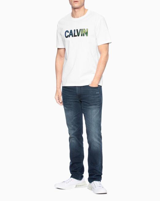 CALVIN KLEIN 남성 레귤러핏 캘빈 벨로아 반팔 티셔츠