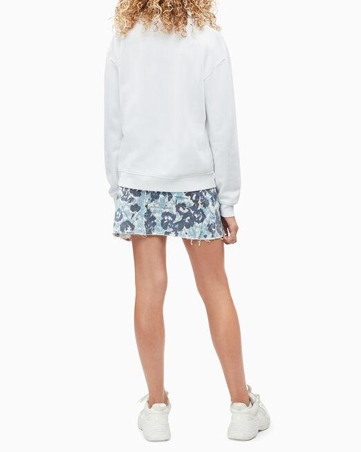 CALVIN KLEIN 여아용 FLORAL LOGO PRINT 스웨트셔츠