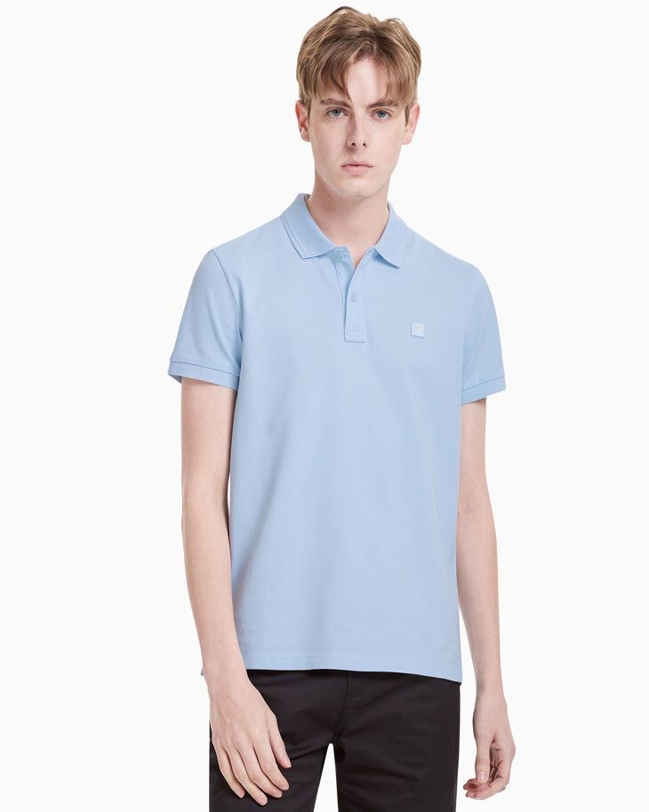 CALVIN KLEIN CK LOGO BADGE SLIM POLO SHIRT