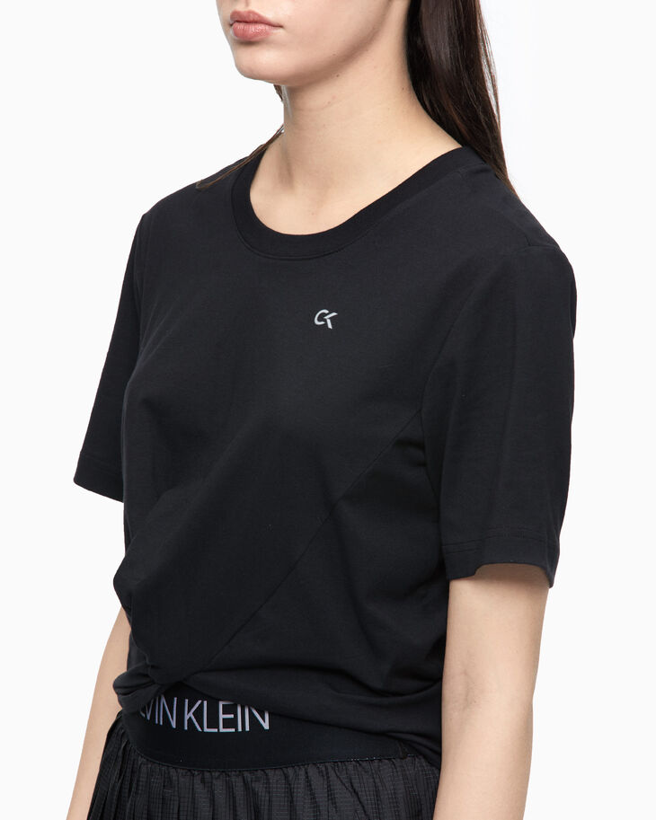 CALVIN KLEIN ACTIVE ICON KNOT DETAIL TEE