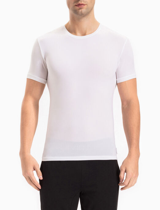 CALVIN KLEIN WEIGHTLESS 마이크로 크루넥 티셔츠
