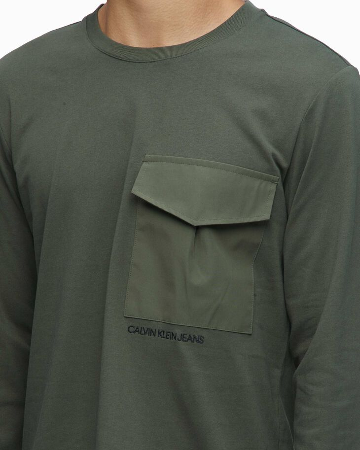 CALVIN KLEIN DOUBLE LAYER HEM 長袖上衣