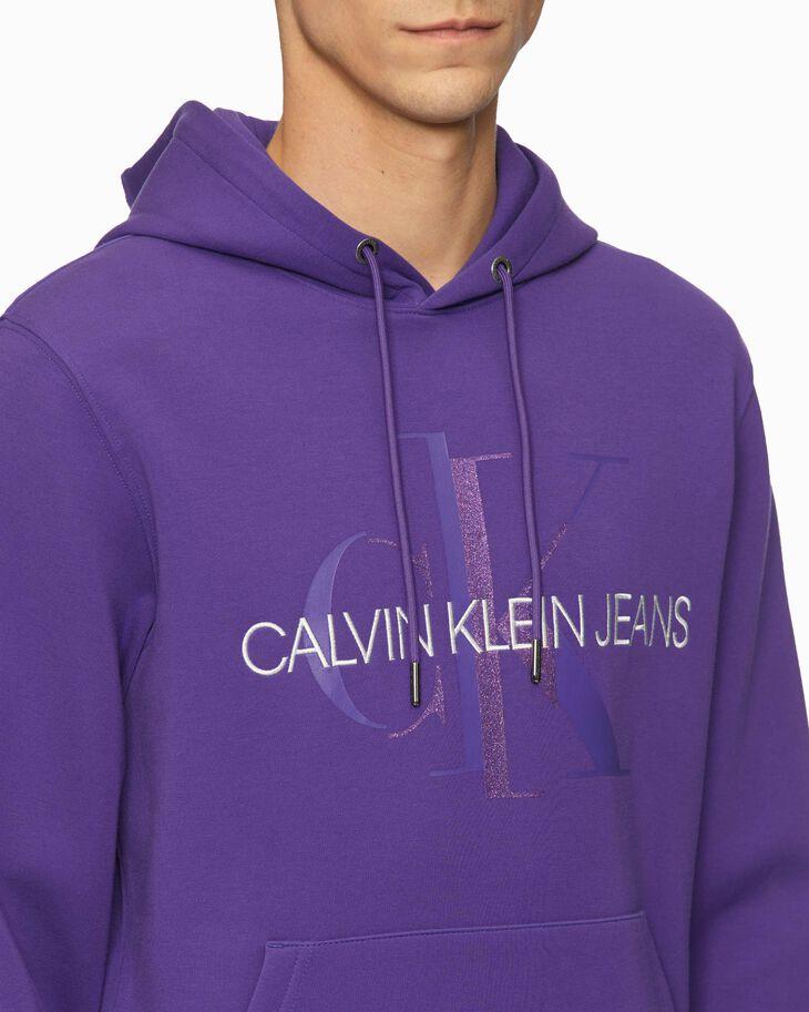 CALVIN KLEIN GLITTER MONOGRAM HOODIE