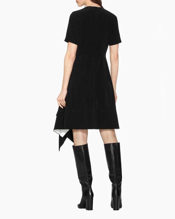CALVIN KLEIN SATIN CREPE DRESS