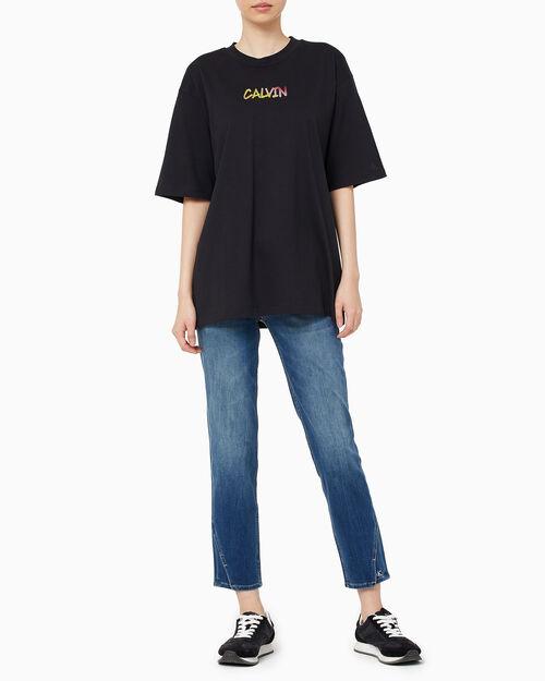 CALVIN KLEIN 여성 그래디언트 캘빈 튜닉 티셔츠